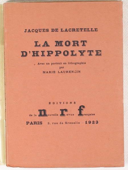 DE LACRETELLE - La Mort d'Hippolyte.Lithographie originale de M. Laurencin 1923 - Photo 1 - livre d'occasion