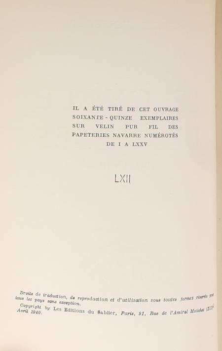 CHENNEVIERE - Le cycle des fêtes. Poèmes -1940 - 1/75 sur vélin - Photo 1 - livre rare