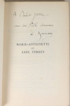 [Histoire] BAUMANN - Marie-Antoinette et Axel Fersen - 1931 - S. P. - Envoi - Photo 0, livre rare du XXe siècle