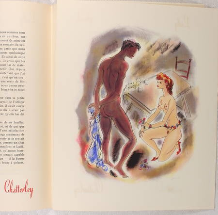 [Curiosa] LAWRENCE - Lady Chatterley - 1956 - Lithographies de Schem - Photo 0 - livre rare