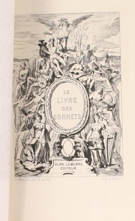 . Le livre des sonnets. Quatorze dizains de sonnets choisis, livre rare du XIXe siècle