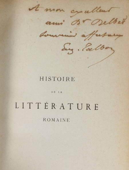 TALBOT - Histoire de la littérature romaine - 1883 - Envoi - Photo 0 - livre de collection