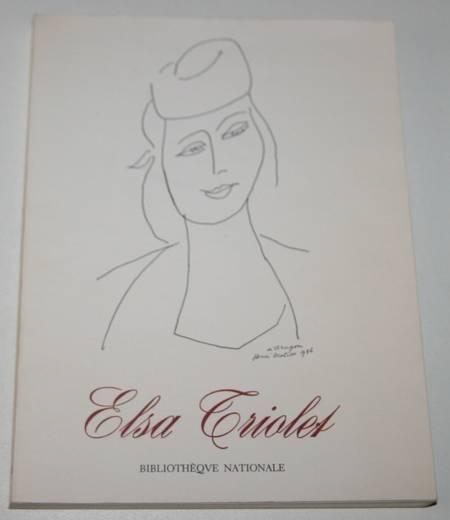 Elsa Triolet - Bibliothèque Nationale - 1972 - Photo 0 - livre d'occasion