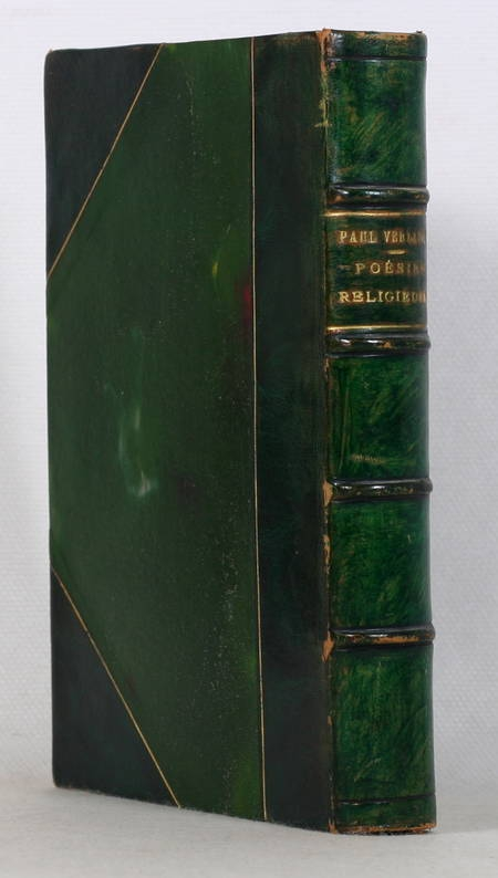 VERLAINE - Poésies religieuses  - 1921 - Bois gravé de Charles Bisson - Photo 1, livre rare du XXe siècle