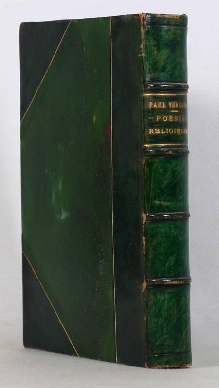 VERLAINE - Poésies religieuses - 1921 - Bois gravé de Charles Bisson - Photo 1 - livre rare
