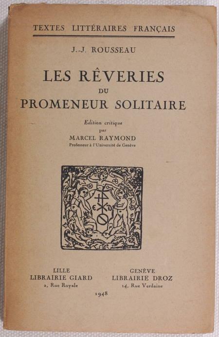 ROUSSEAU Les rêveries du promeneur solitaire 1948 - Photo 0 - livre d'occasion