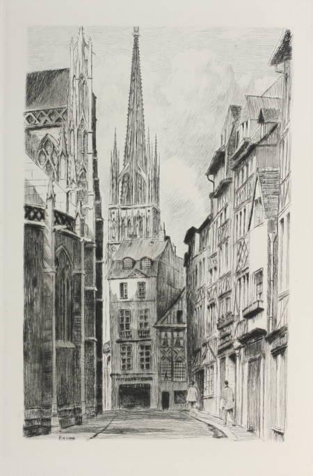LE POVREMOYNE (Jehan). Images de Normandie, livre rare du XXe siècle