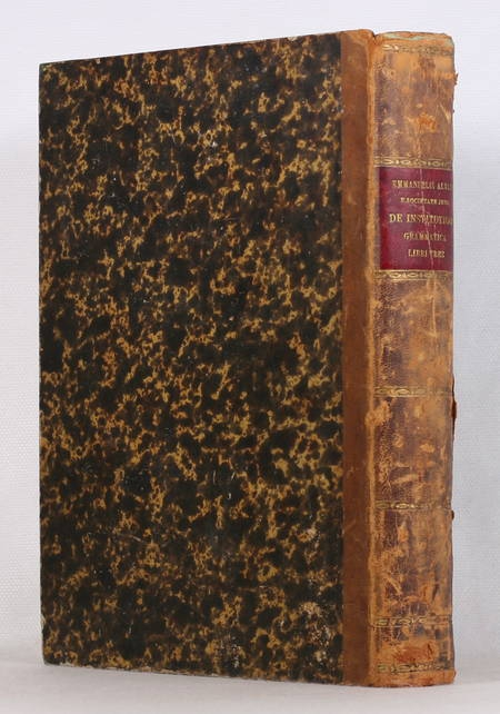 ALVARI De institutione grammatica. Libri tres. 1859 - In-4 - Photo 0 - livre du XIXe siècle