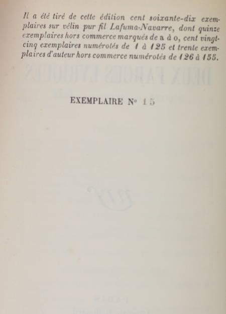 CLAUDEL (Paul). Deux farces lyriques. Protée. L'ours et la lune, livre rare du XXe siècle