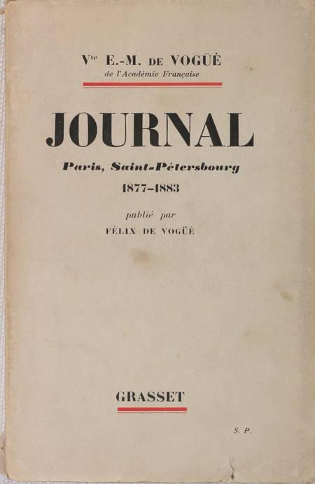 Vte de Vogüé- Journal. Paris, Saint-Pétersbourg 1877-1883 - 1932 - Photo 1 - livre de bibliophilie