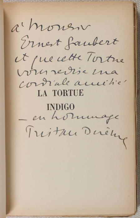 DEREME (Tristan). La tortue indigo, livre rare du XXe siècle