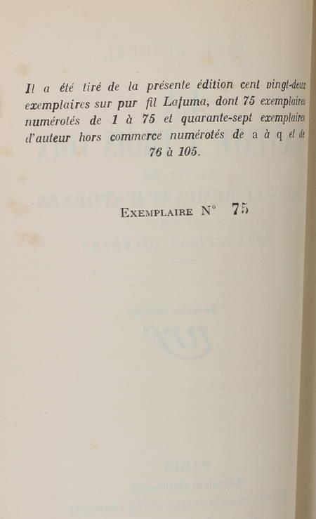 CLAUDEL (Paul). La cantate à trois voix, suivie de Sous le rempart d'Athènes et de traductions diverses