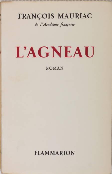 MAURIAC (François). L'agneau, livre rare du XXe siècle