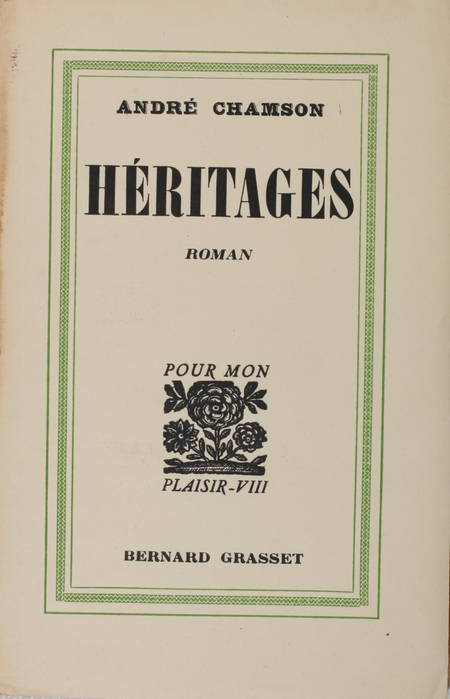 CHAMSON - Héritages - 1932 - Envoi signé - Service de presse - Alfa - Photo 1 - livre de bibliophilie