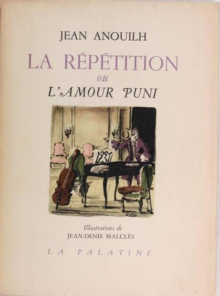 Jean ANOUILH - La répétition ou l'amour puni - 1950 - Photo 1 - livre de collection