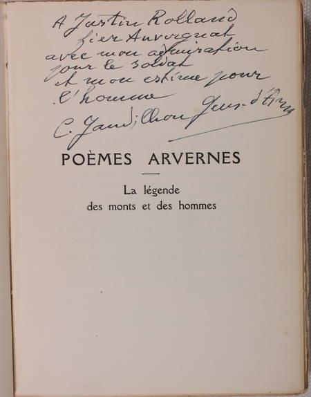 GANDILHON - Poèmes arvernes. La légende des monts et des hommes - 1932 - Envoi - Photo 1 - livre d'occasion