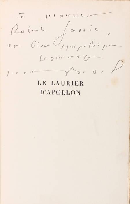 Maurice BEDEL - Le laurier d'Apollon - 1936 - Envoi - Service de presse - Photo 0 - livre de bibliophilie