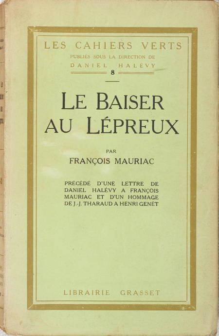 [Littérature] MAURIAC - Le Baiser au lépreux - 1922 - EO - Photo 0 - livre de bibliophilie