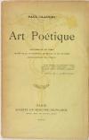 Paul CLAUDEL - Art poétique - 1907 - Tirage justifié - Année de l EO - Photo 0, livre rare du XXe siècle