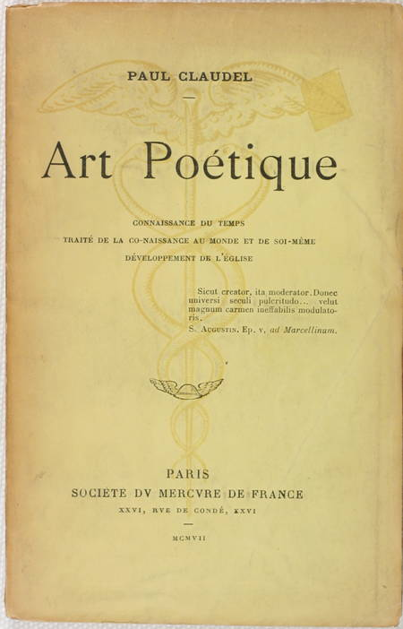 CLAUDEL (Paul). Art poétique