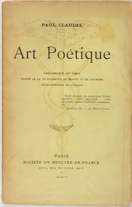 CLAUDEL (Paul). Art poétique, livre rare du XXe siècle