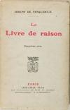 Joseph de PESQUIDOUX - Le Livre de raison - 2e série - 1928 - Envoi - Photo 1, livre rare du XXe siècle