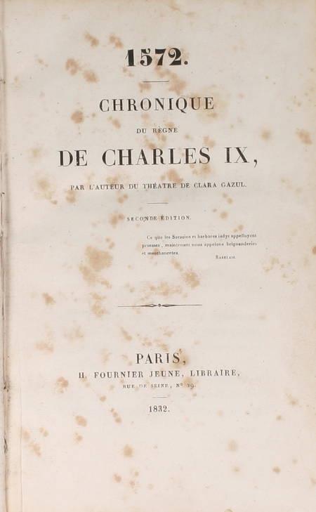 MERIMEE - 1572. Chronique du règne de Charles IX - 1832 - 2e édition - Photo 1 - livre d'occasion