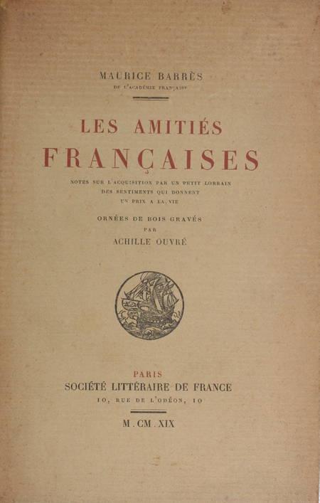 BARRES Les amitiés françaises. Petit lorrain 1919 Bois de Ouvré - sur Lafuma - Photo 1 - livre d'occasion