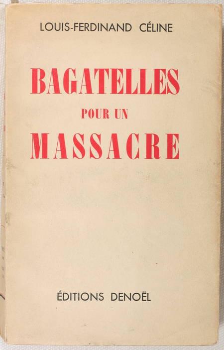 CELINE - Bagatelles pour un massacre - 1938 - Edition originale - Photo 0 - livre d'occasion