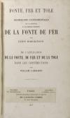 HODGKINSON et FAIRBAIRN - La fonte de fer - 1857 - Photo 2 - livre de collection