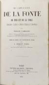 HODGKINSON et FAIRBAIRN - La fonte de fer - 1857 - Photo 3 - livre de collection