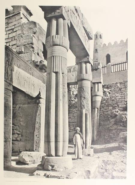 JEQUIER - Temples memphites et thébains des origines à la XVIIIe dynastie - 1920 - Photo 0 - livre d'occasion