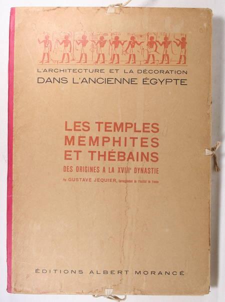 JEQUIER - Temples memphites et thébains des origines à la XVIIIe dynastie - 1920 - Photo 1 - livre d'occasion