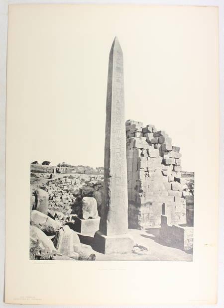 JEQUIER - Temples memphites et thébains des origines à la XVIIIe dynastie - 1920 - Photo 3 - livre rare