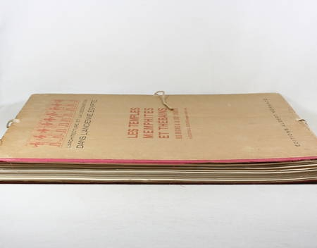 JEQUIER - Temples memphites et thébains des origines à la XVIIIe dynastie - 1920 - Photo 4 - livre rare