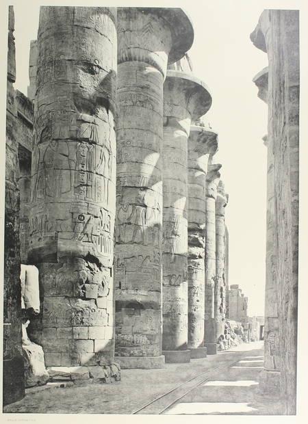 JEQUIER (Gustave). Temples ramessides et saïtes de la XIXe à la XXXe dynastie. L'architecture et la décoration dans l'ancienne Egypte