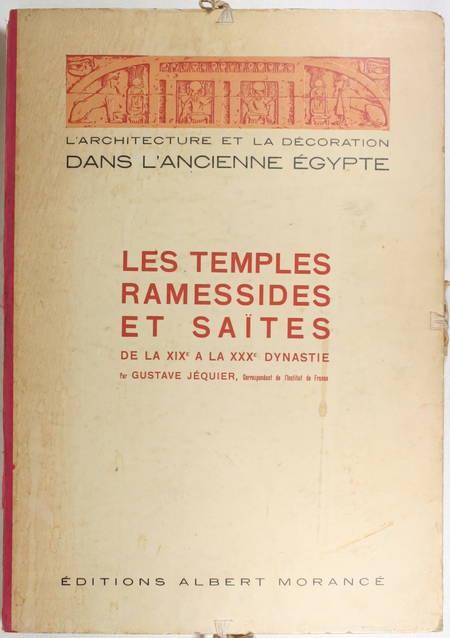 JEQUIER - Temples ramessides et saïtes des XIXe à la XXXe dynastie - 1920 - Photo 1 - livre d'occasion