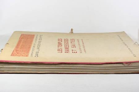 JEQUIER - Temples ramessides et saïtes des XIXe à la XXXe dynastie - 1920 - Photo 3 - livre d'occasion