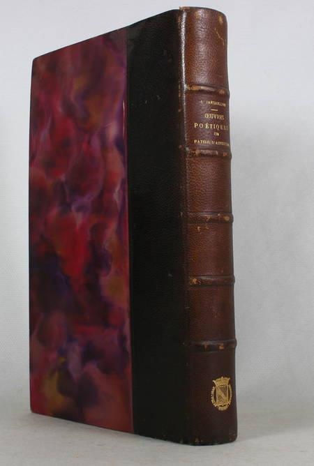 JARSAILLON (Jacques). Oeuvres poétiques en patois d'Auvergne, publiées par J. Coudert et B. Petiot
