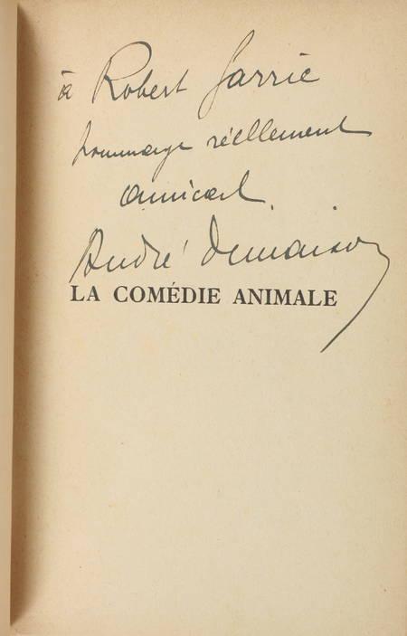 DEMAISON (André). La comédie animale