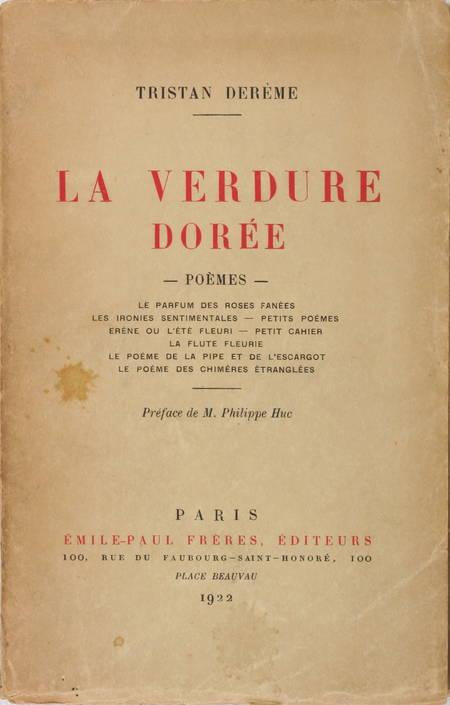 DEREME - La verdure dorée - Poèmes - 1922 - Première édition collective - Photo 0 - livre du XXe siècle