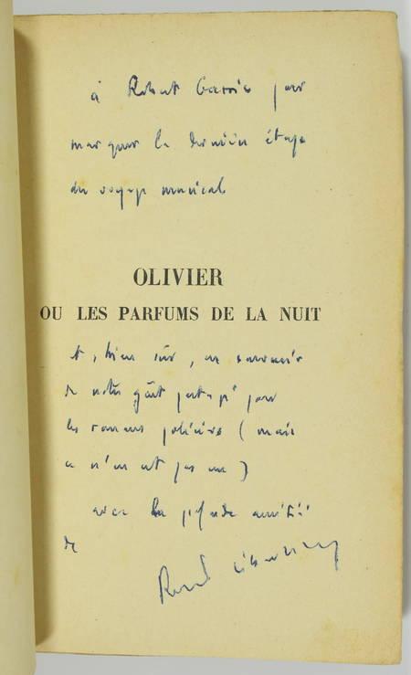 Robert SEBASTIEN - Olivier ou les parfums de la nuit - 1934 - Envoi - Photo 0 - livre de collection