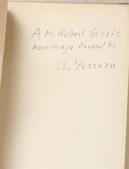 FERRERO (Leo). Léonard de Vinci ou l'oeuvre d'art. Précédé d'une étude, Léonard et les philosophes de Paul Valery