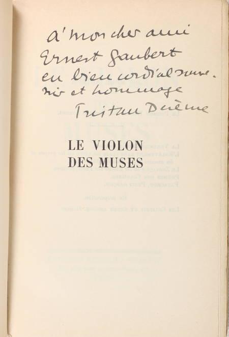 DEREME (Tristan). Le violon des muses
