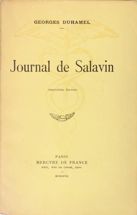 DUHAMEL - Journal de Salavin - 1927 - Envoi de l'auteur - Photo 1 - livre du XXe siècle