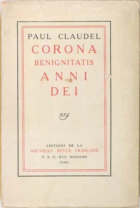 CLAUDEL (Paul). Corona benignitatis anni dei, livre rare du XXe siècle