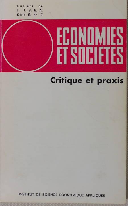. Critique et praxis