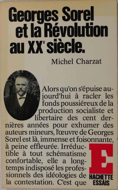 CHARZAT (Michel). Georges Sorel et la révolution au XXe siècle, livre rare du XXe siècle