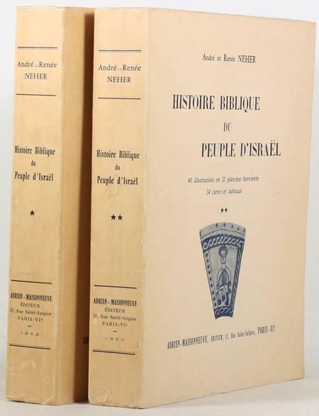 NEHER (André et Renée). Histoire biblique du peule d'Israel