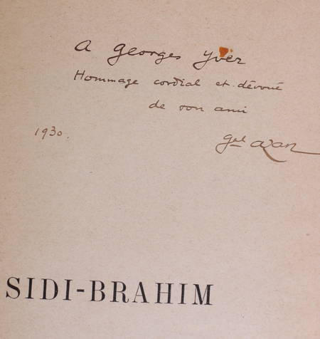 [Algérie] AZAN - Sidi Brahim - 1930 - Dédicace à Georges Yver - Photo 0 - livre de collection